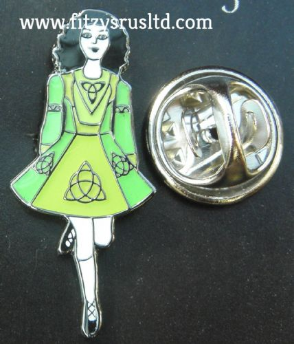 Irish Dancer Lapel Hat Tie Pin Badge Ireland Dancing Dance Celtic Knot Brooch